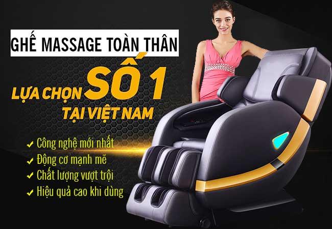 Sự lựa chọn tốt nhất cho sức khỏe với dòng ghế massage toàn thân