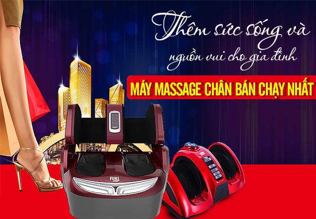 Máy massage chân đa năng giá ưu đãi cùng nhiều quà tặng hấp dẫn kèm theo