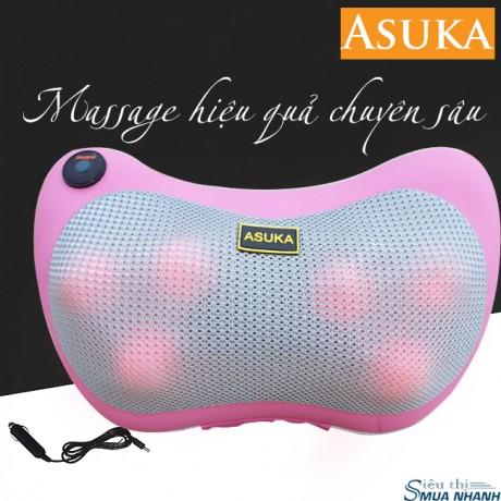 Gối massage hồng ngoại Asuka 6 bi (Nhật Bản)