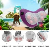 Gối massage hồng ngoại 6 bi Olekin OL-919B