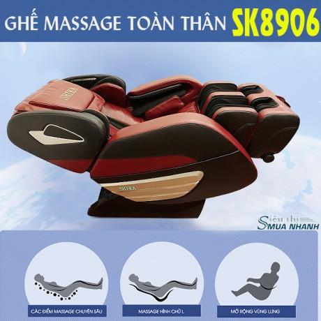 Ghế massage toàn thân cao cấp 3D Shika SK-8906