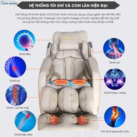 Ghế massage toàn thân cao cấp 3D Shika SK-8908