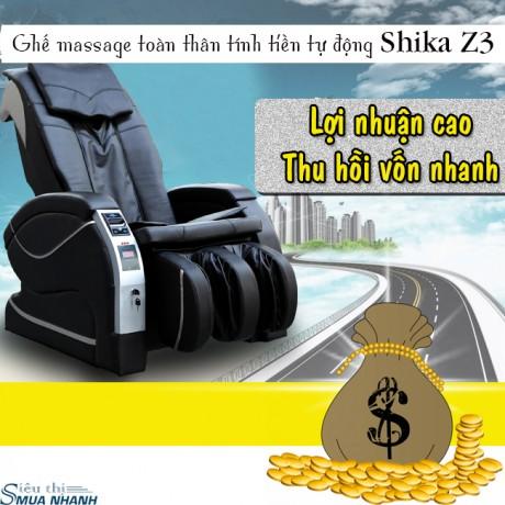 Ghế massage toàn thân tính tiền tự động Shika Z3