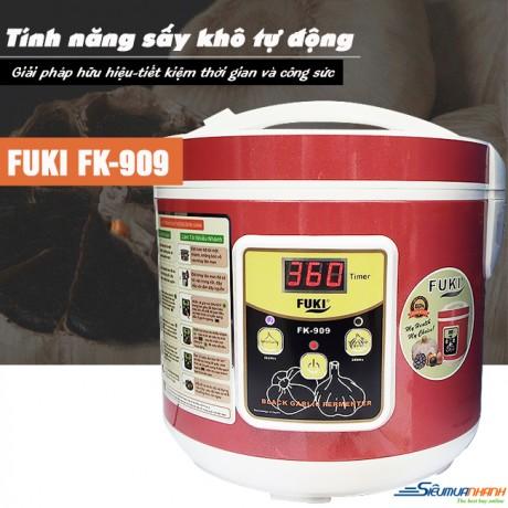 Máy Làm Tỏi Đen Fuki FK-909 Dòng Cao Cấp (Đỏ mận)