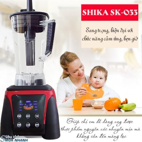 Máy xay sinh tố đa năng Shika 2200W SK-033 (hẹn giờ + cảm ứng)