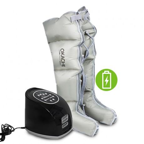 Máy nén ép trị liệu suy giãn tĩnh mạch OKACHI LUXURY JP-3000 Plus (Pin sạc)