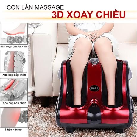 Máy massage chân hồng ngoại 3D OKACHI JP- 810 (4 motor)